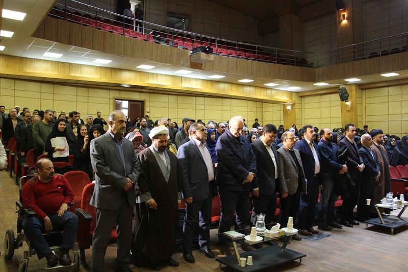 مراسم گرامیداشت ایامالله دهه فجر و چهل و یکمین سال پیروزی انقلاب اسلامی در تالار ابنسینا