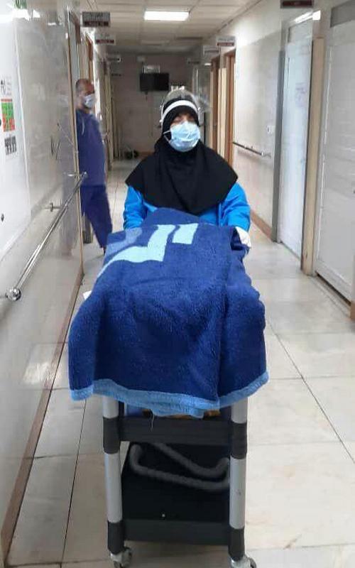 خدمترسانی جهادگران سلامت حضرت نرجس خاتون (س) در موج دوم کرونا در مجتمع بیمارستانی امام خمینی (ره)