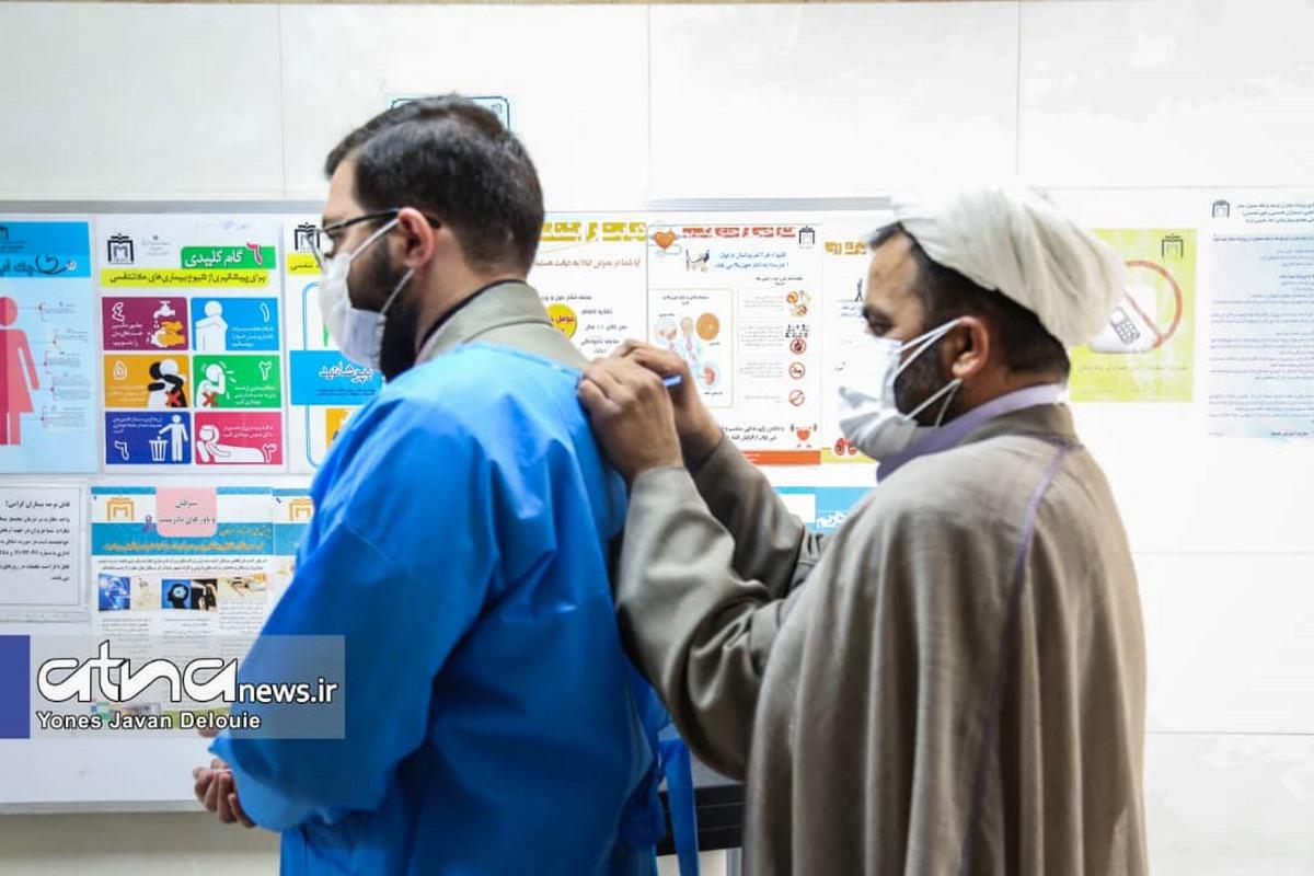 تجلیل جهادگران سلامت نرجس خاتون (س) از کادر درمانی بخشهای کرونای مجتمع بیمارستانی امام خمینی (ره) به مناسبت 17 ربیعالاول