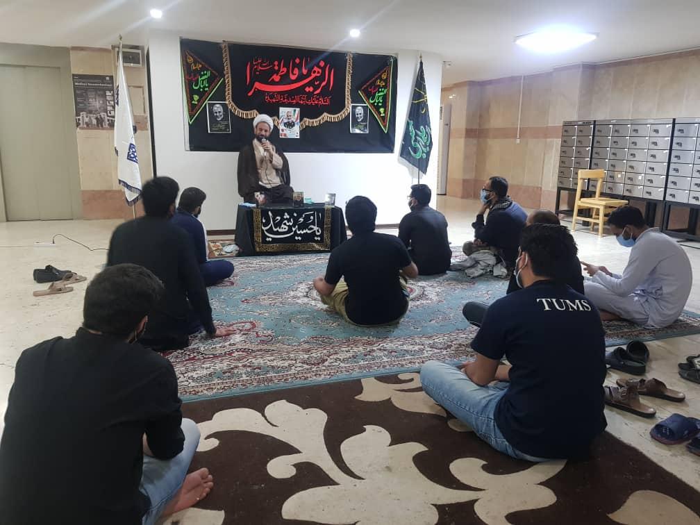 برگزاری مراسم سالگرد شهادت سردار سلیمانی و ابومهدی المهندس در خوابگاه دمشق دانشجویان بین الملل