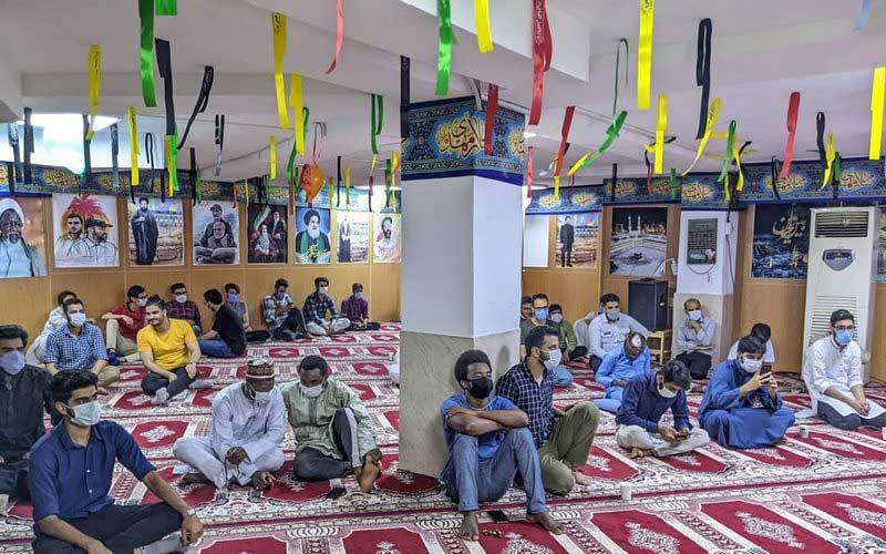مراسم جشن عید غدیر در خوابگاه دمشق دانشجویان بینالملل