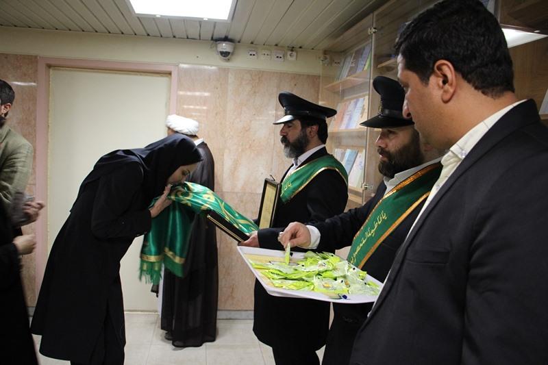 حضور خادمین آستان مقدس حضرت فاطمه معصومه (س) در ستاد مرکزی دانشگاه