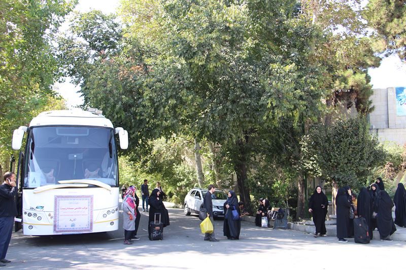 مراسم بدرقه کاروان درمانی دانشگاه علوم پزشکی تهران برای مراسم اربعین