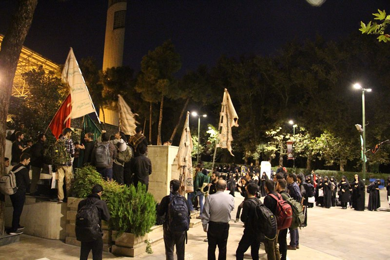 مراسم بدرقه کاروان زیارتی دانشگاه علوم پزشکی تهران برای مراسم اربعین